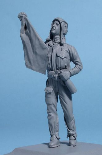 WF35037, 1/35th scale WWII Soviet Tank Commander with Flag