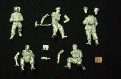 WFM72004, 1/72nd scale WWII British Expeditionary Force (B.E.F.) Tank Crew (France 1940)