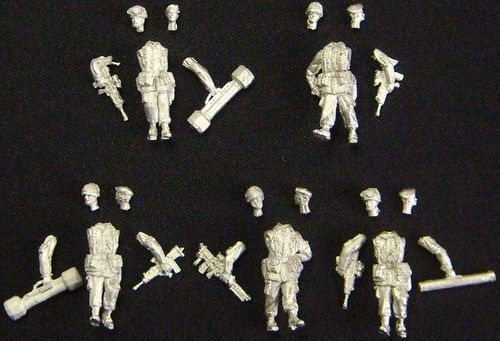 WFM72041, 1/72nd scale Modern British Royal Marines on patrol (from 1990 to 2000)