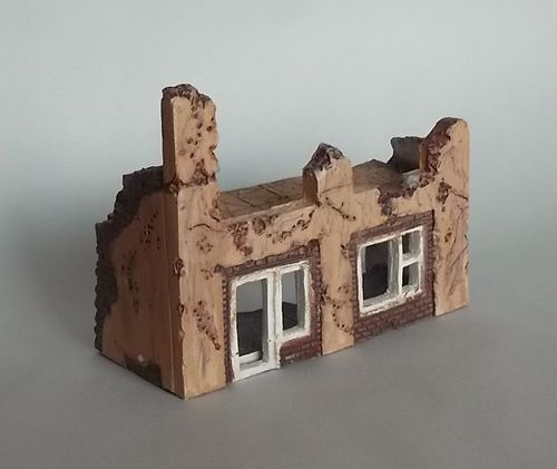 WD72001, 1/72nd scale Ruin Building No. 1