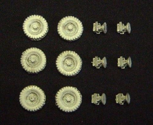 WBM76027, 1/76th scale FV600 Series Wheels and Suspension set for Saladin and Saracen kits