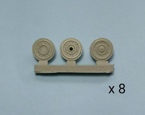 WBM48028, 1/48th scale Panther Steel Resilient Wheel set